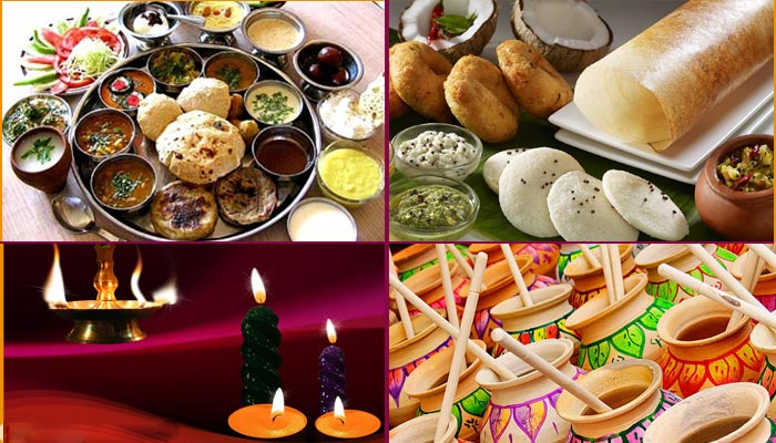 festivals celebration with indian dishes