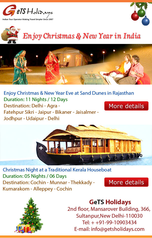 enjoy christmas and new year in India