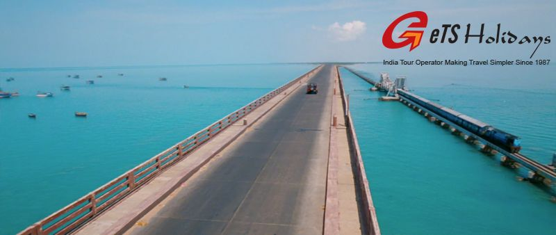 Pamban Bridge in South India