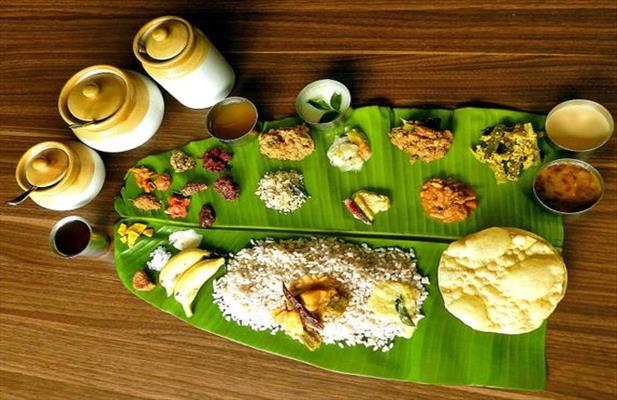 food of kerala, sadya, kerala tour packages