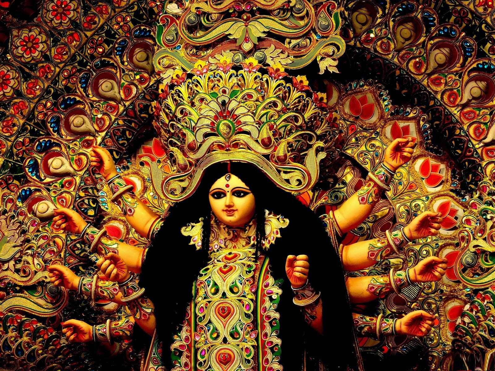 Durga Puja Hd Wallpaper: The Festival Of Home Coming Goddess Durga In