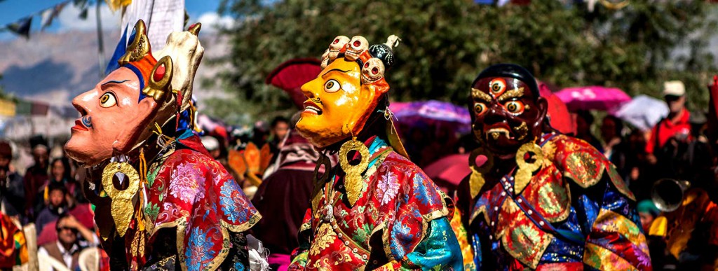 The Masked dance - Cham dance at Hemis Monastery