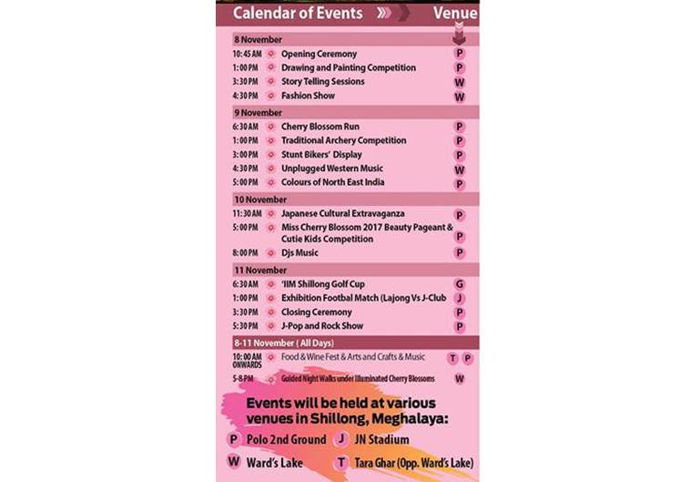 Cherry Blossom Festival Events Calendar 2017