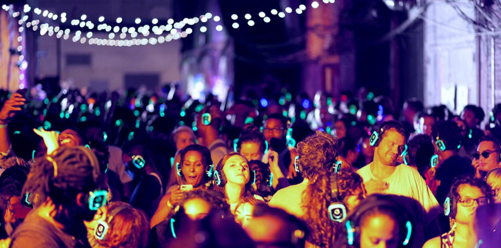 Silent noise party in Goa