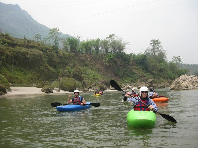 KAYAKING AT SETI RIVER