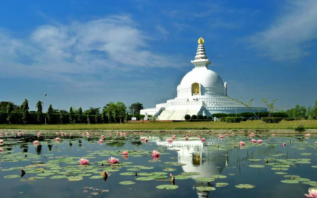 WORLD PEACE PAGODA IN LUMBINI