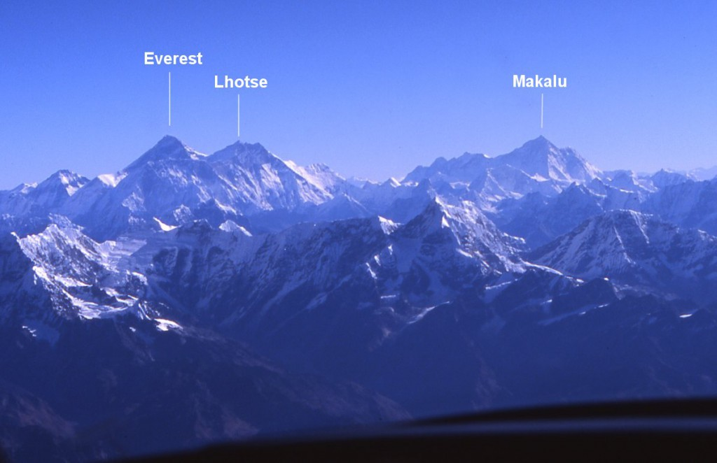 VIEW FROM MOUNT EVEREST FLIGHT