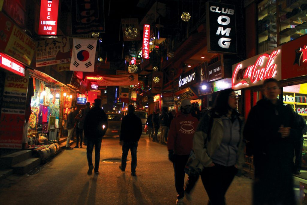 Thamel in Nepal