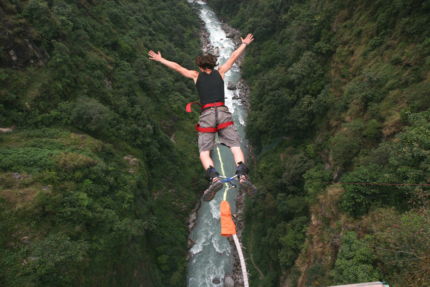 BUNGEE JUMPING AT BHOTE KOSHI RIVER
