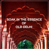 Arcade-at-the-Red-Fort,-Delhi,-India
