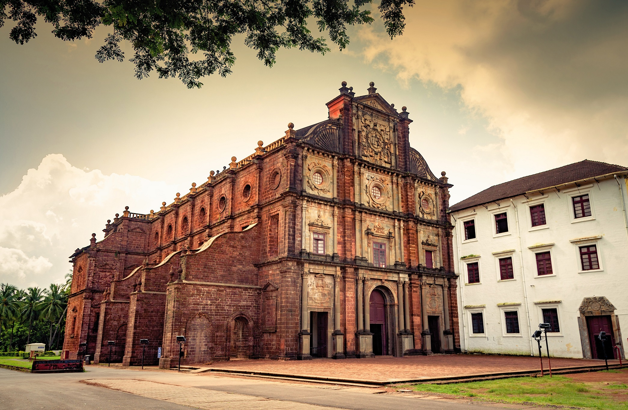 Ancient Basilica of Bom Jesus church at Goa, India