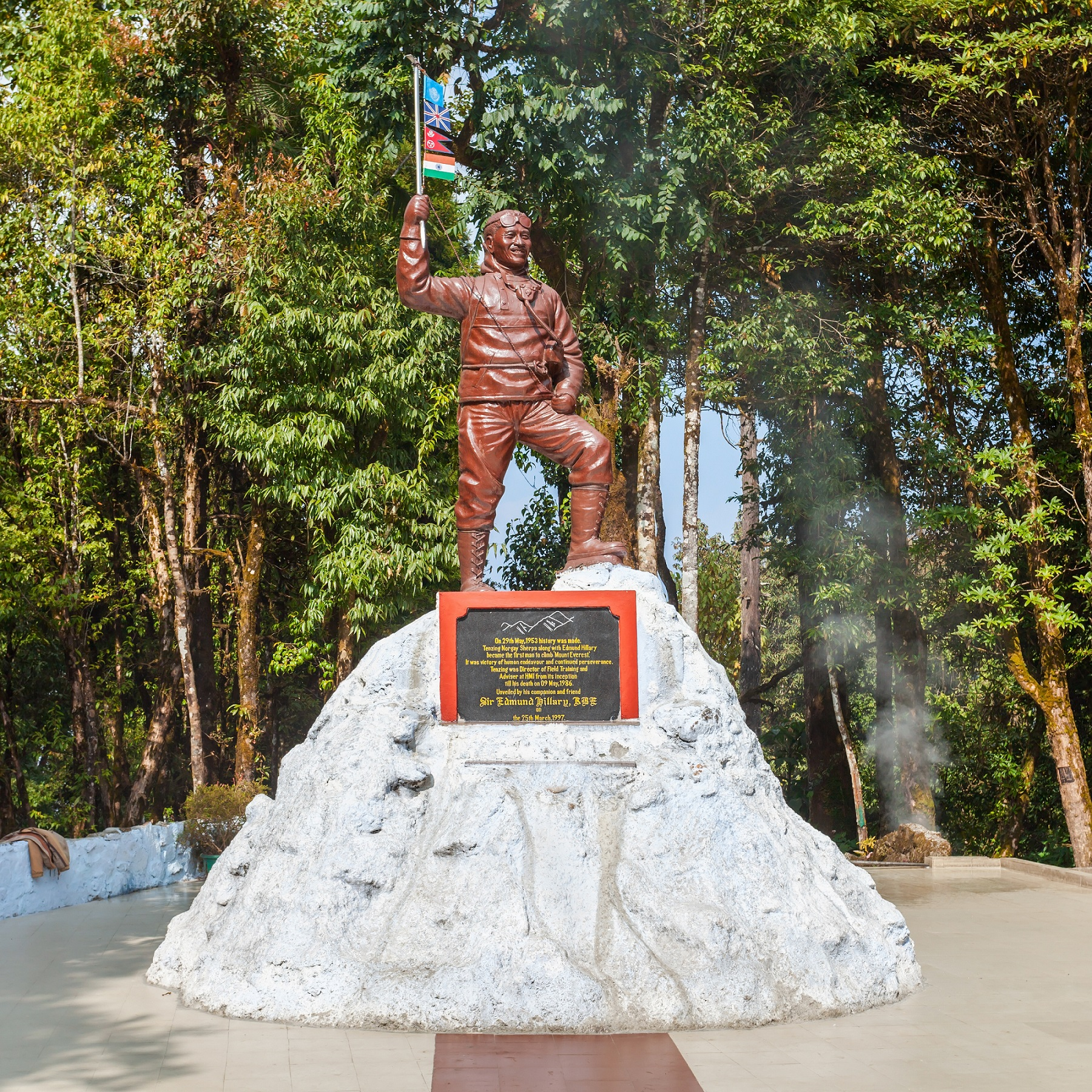 DARJEELING, INDIA - NOVEMBER 18, 2015 Tenzing Norgay memorial at the Himalayan Mountaineering Institute in Darjeeling, India.